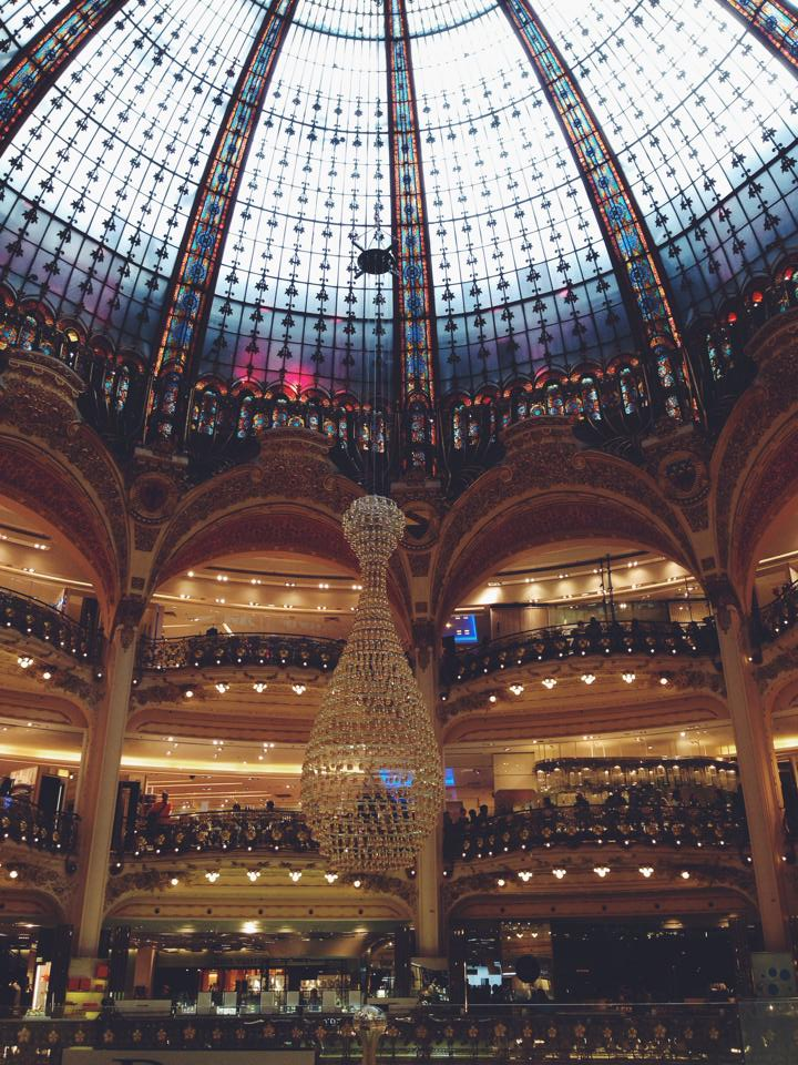 And of course: les Galeries Lafayette