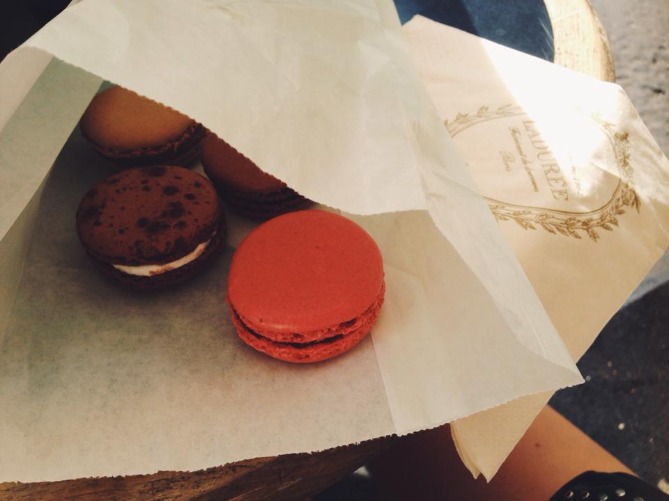 Yes, I had some delicious macaroons from Maison Ladurée ;)
